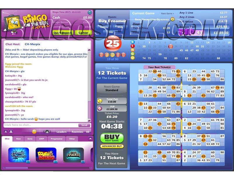 Bingo on the Box Lobby