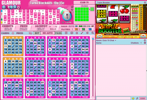 Glamour Bingo Lobby